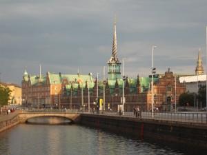 Het beursgebouw van Kopenhagen, 17e eeuws
